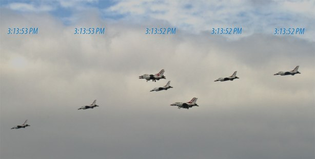 USAF Thunderbirds without the Sub Sec Data