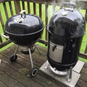 weber kettle and smokey mountain