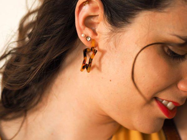Promociones especiales Pendientes carey estrella 2 Josephine Looks