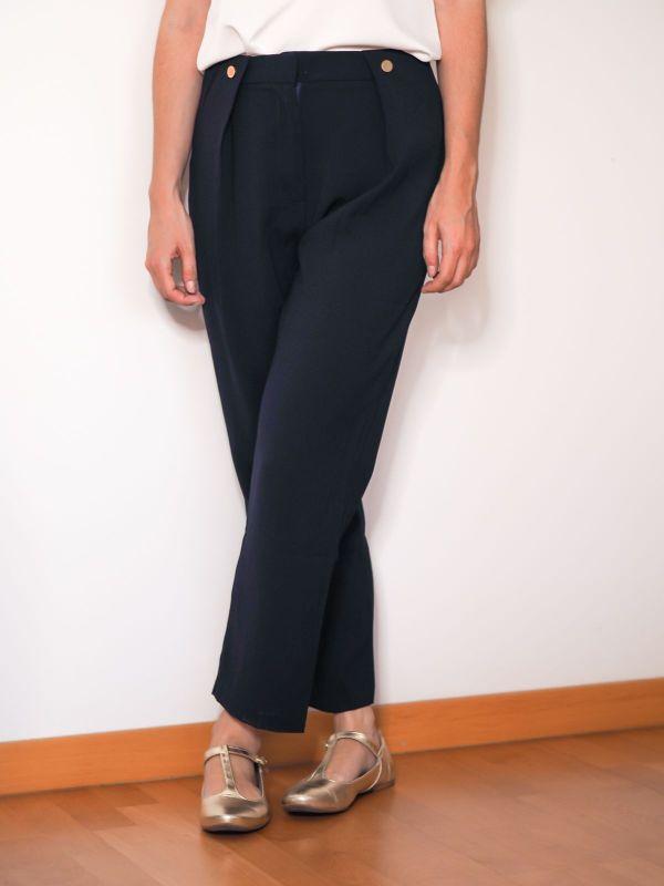 pantalon sastre azul marino Josephine Looks