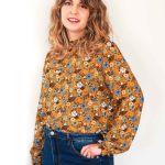 Blusa mostaza estampado floral 1