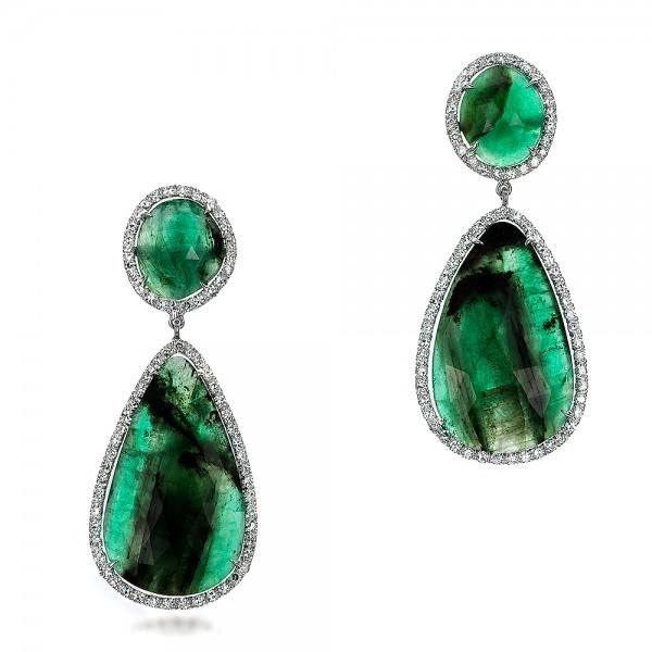 Custom Topaz And Silver Earrings 100856 Seattle