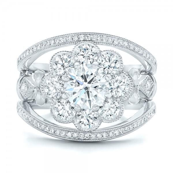 Custom Diamond Interlocking Engagement Ring 102845