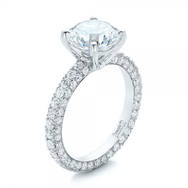 Custom Pave Diamond Eternity Engagement Ring 102143