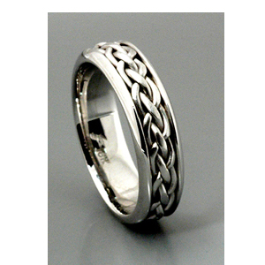 Mens Braided White Gold Band Samuel Jewels 128