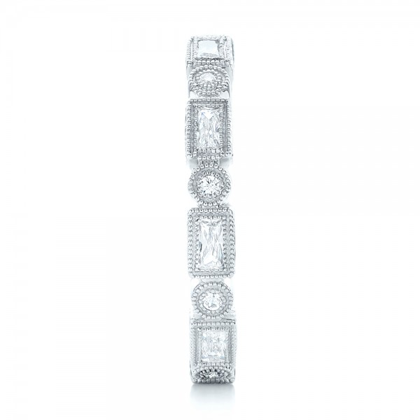 Round And Baguette Diamond Stackable Eternity Band 101945