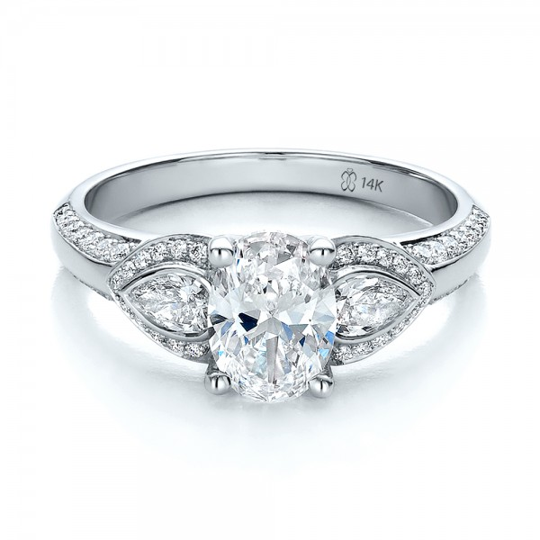 Custom Three Stone Diamond Engagement Ring 100279