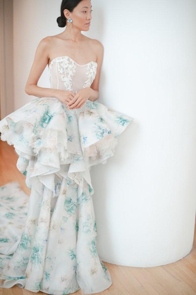 color theory wedding dress Ines Disanto Joseph Rogero Photography