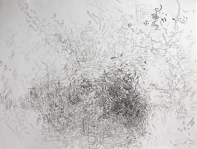 Skidder, ink on paper, 20 x 26 inches, 1980.