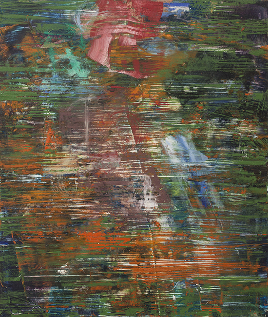Untitled 6, oil and wax on masonite board, 14 x 11 7/8 inches, 1976.