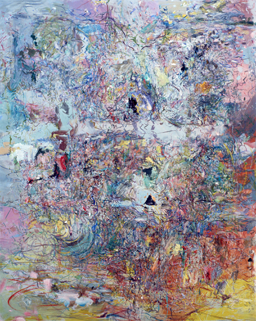 Tongue Tied, oil on canvas, 32 x 36 inches, 1980-81. Private Collection.