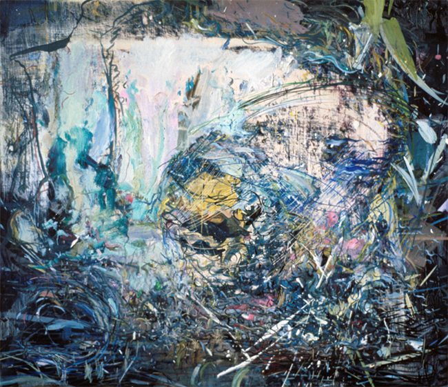 Iris, oil on canvas, 16 x 18 inches, 1980. Private Collection.
