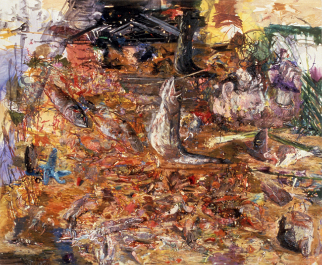Bouillabaisse, oil on canvas, 32 x 39 inches, 1983-84. Collection of the Cincinnati Museum of Art, Cincinnati, OH.