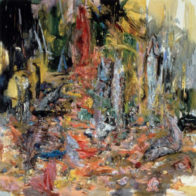 Grace, Gratitude, oil on canvas, 34 x 34 inches, 1984. Private Collection.