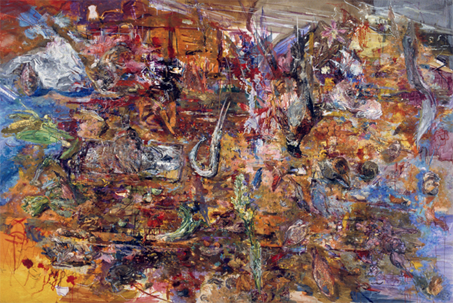 House of Water, oil on canvas, 57 x 86 inches, 1984. Private Collection.