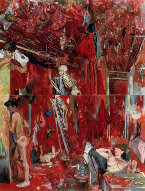 The Frayed Rope, oil on canvas, 113 x 86 inches, 1988-89.