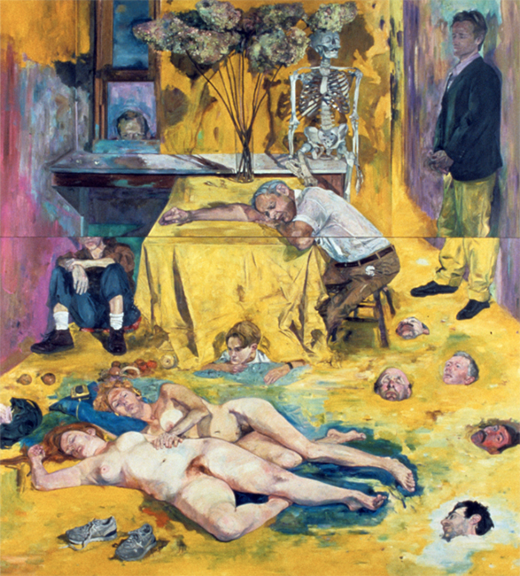 Yellow Painting, oil on canvas, 113 x 102 inches, 1989-90.