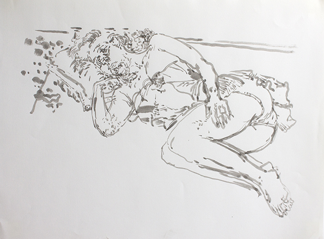 Andrea II, ink and water on paper, 24 x 18 inches, 1994. Collection of the artist.