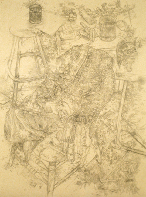 Untitled, pencil on paper, 30 x 24 inches, 1995. Private Collection.