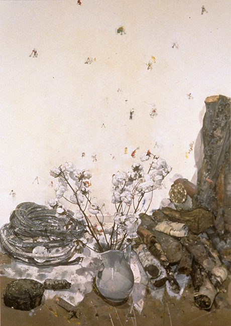 Still Life, oil on canvas, 72 x 48 inches, 1996-97. Private collection.
