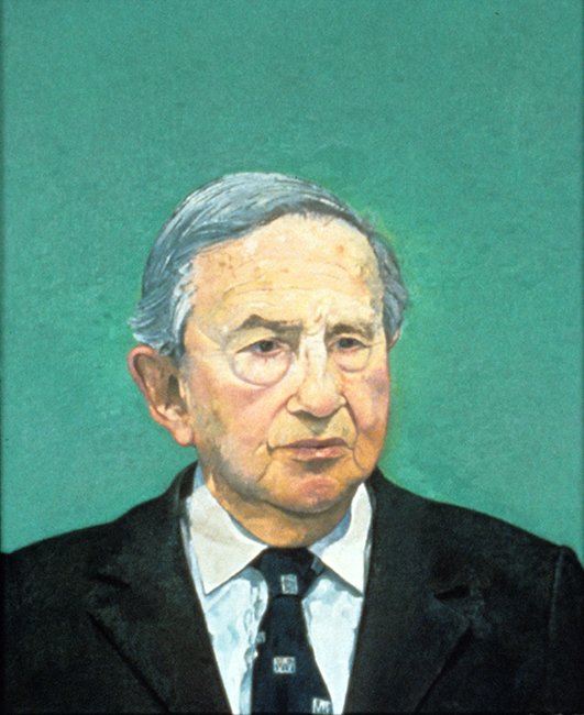 Morris Wasserstein, oil on linen, 22 x 18 inches, 1996. Private collection.
