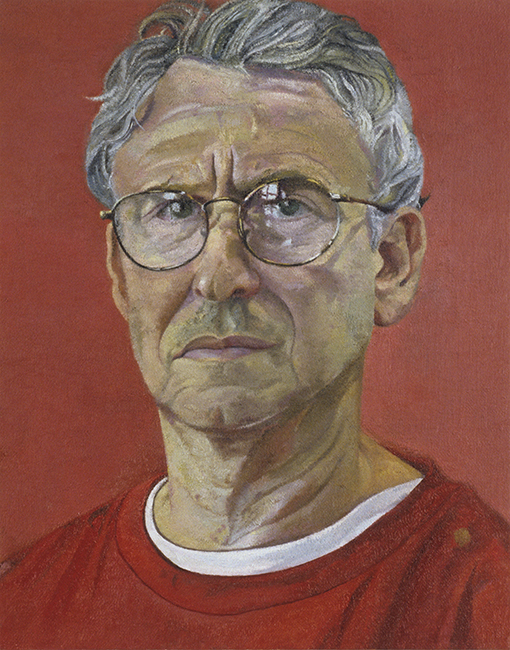 Self Portrait, oil on linen, 14 x 10 1/2 inches, 2005.