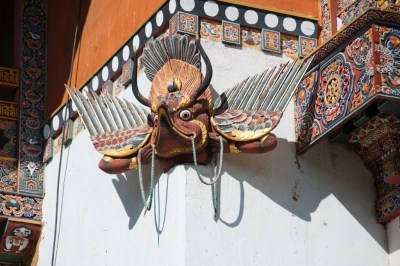 Sculpture detail at Gangtey Gompa