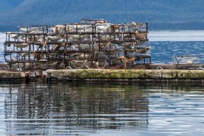 Crab-fishing traps in Tenakee Spring, Alaska.