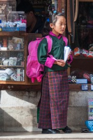 Bhutanese school girl.