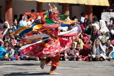 Cham dancer a Wangdi Festival