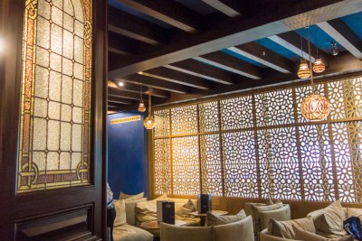 Bar at Le Train Bleu.