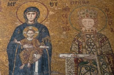 Istanbul - Aya Sophia Cathedral Byzantine Mosaics.
