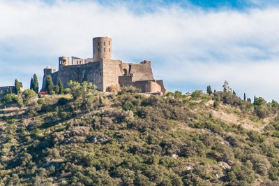 The St. Elme fortress was built by Charles  V to protect Collioure and the coast.