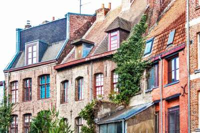 Medieval homes line the streets of the historic Old Town.
