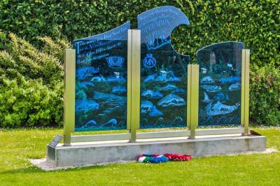 The British Garden commemorates the role the its Merchand Marine in the D-Day  invasion.