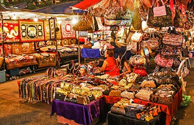 Chiang Mai-Night Bazaar.