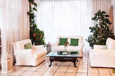 A relaxing nook in Santa Caterina Lounge.