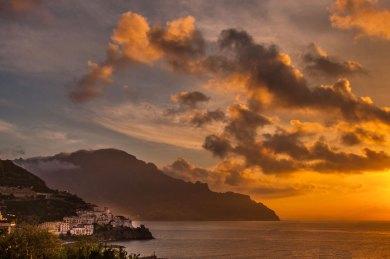 Amalfi-Santa Caterina Sunset.