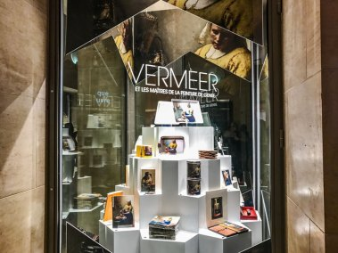The Louvre gift shop and book store are doing a brisk business in Vermeer memorabilia  (2)