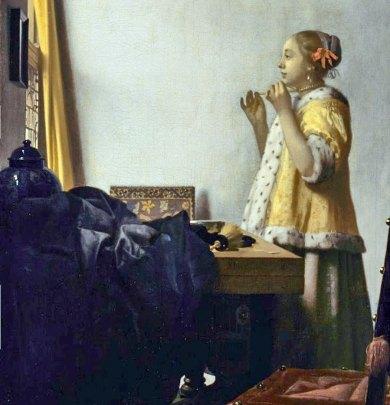 Paris-Louvre-Vermeer Pearl Necklace,