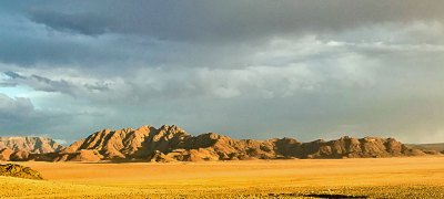 The Kulala Adventurers Camp offers a panoramic view of the Namib Desert.