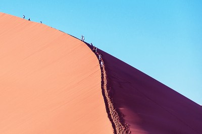 Dune 45 climbers.