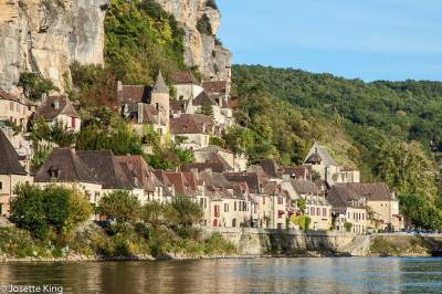 La Roque-Gageac, seen from the Dordogne River.