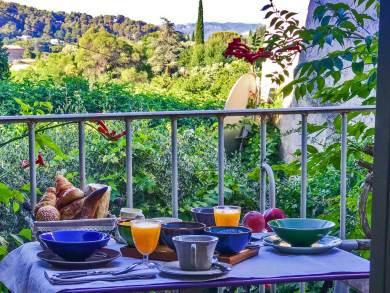 Luberon-Lourmarin breakfast.