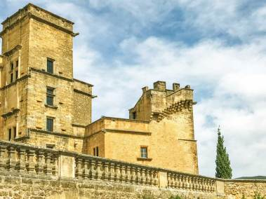 The Gothic Wing and Renaissance staircase of the Château de Lourmarin.
