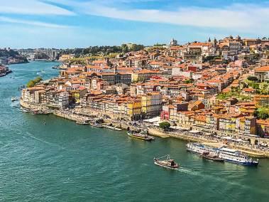 The Porto skyline bristles with church towers.