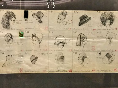Hat collection sketches.