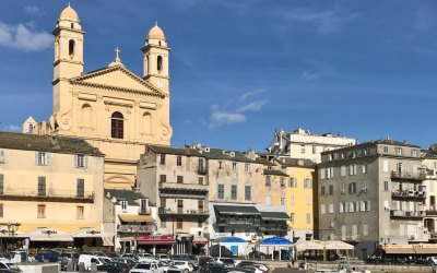 The 16th-century Cathedral of Saint-Jean-Baptiste dominates the waterfront of the Terra Vecchia.