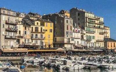 Corsica-Bastia old port cafes.