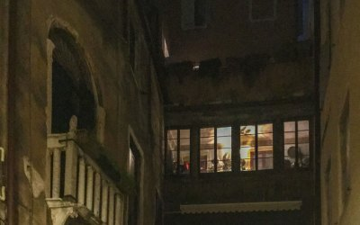 Venice Windows at Night - 2